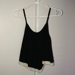 Black with lace trimming blouse